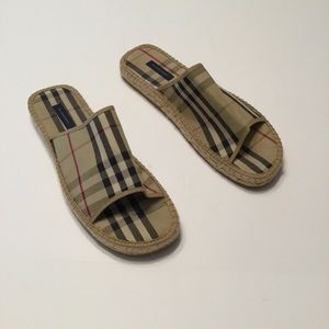 Burberry Slides Canvas men's 11 or women's 12